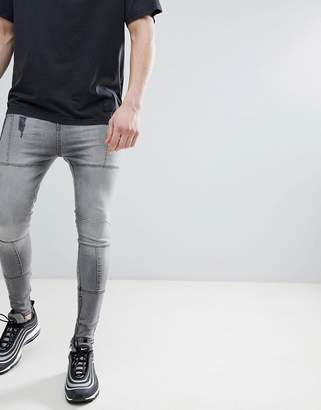 Religion Super Tapered Fit Jeans With Panels