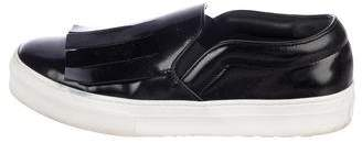 Celine Patent Leather Slip-On Sneakers
