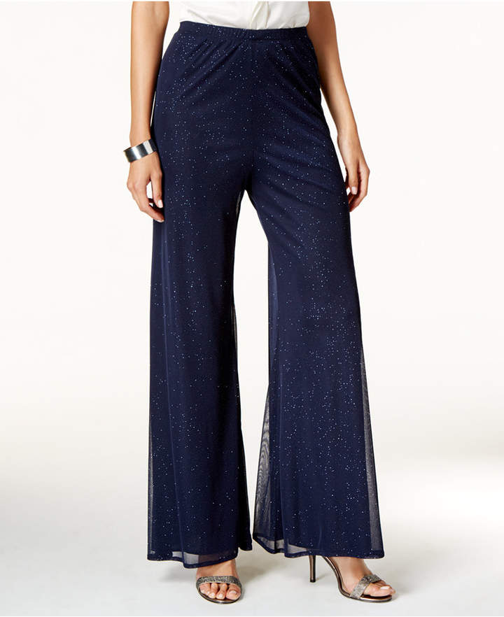 msk sparkled palazzo pants shopstylecouk women