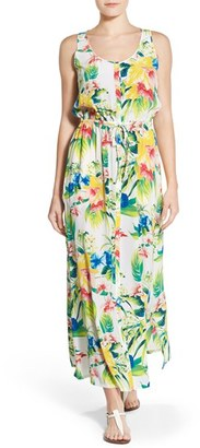Women's Tommy Bahama 'Fleur De Lite' Silk Maxi Dress $298 thestylecure.com