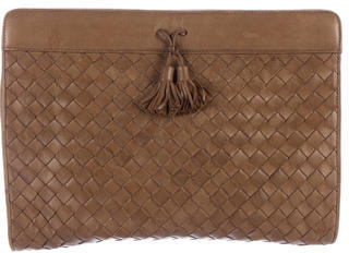 Bottega Veneta Bottega Veneta Intrecciato Leather Clutch