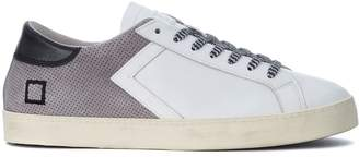 D.A.T.E Hill Low Half White Leather And Grey Suede Sneaker