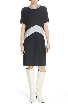 Rag & Bone Hannah Chevron Stripe Silk Shift Dress