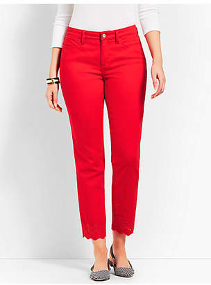Talbots Scallop Denim Slim Ankle - Curvy Fit/Color