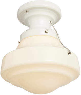 Rejuvenation Small Porcelain Schoolhouse Flush Mount Fixture