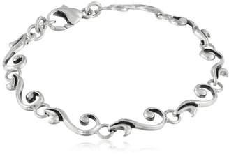 Zina Sterling Swirl Link Bracelet