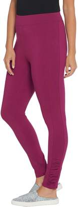 Denim & Co. Regular Active Pull-On Knit Leggings with Ruched Detail