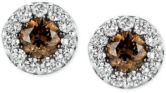 LeVian Le Vian Chocolatier Diamond Stud Earrings (1 ct. t.w.) in 14k White Gold
