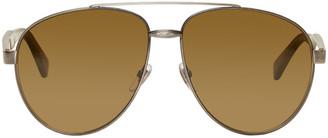 Gucci Silver Aviator Sunglasses $400 thestylecure.com