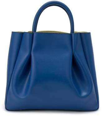 Alexandra de Curtis Ashley Midi Ruched Tote Blue