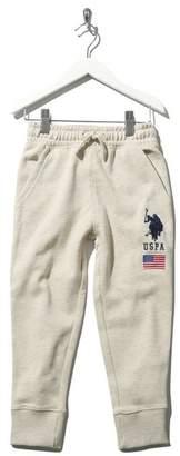 M&Co U.S Polo Assn. embroidered logo cuffed joggers
