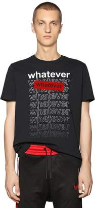 Diesel Whatever Printed Cotton Jersey T-Shirt