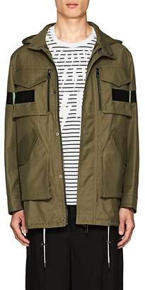 Neil Barrett Men's Reflective-Strip Cotton-Blend Slim Field Jacket