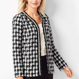 Talbots Pearl-Trim Tweed Jacket