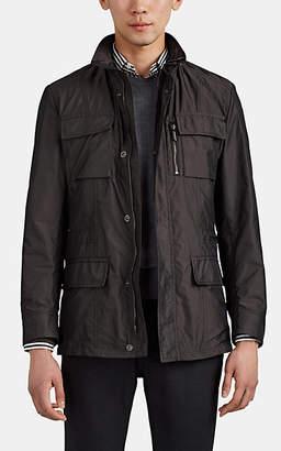 Manolo Blahnik Moorer Men's Tech-Twill Field Jacket - Charcoal
