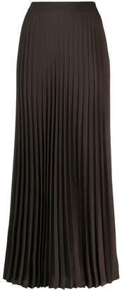 Agnona pleated maxi skirt