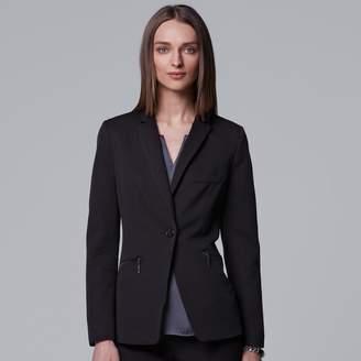 Vera Wang Women's Simply Vera Modern Black Blazer
