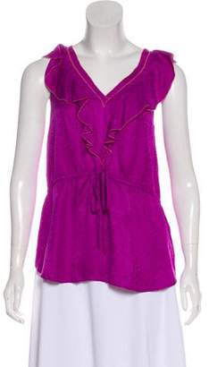 Rebecca Taylor Silk Sleeveless Blouse