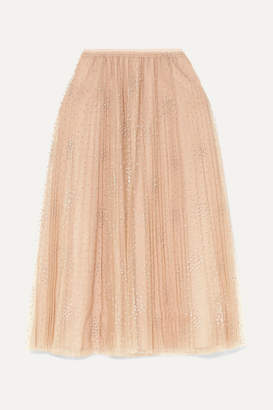 RED Valentino Fil Coupé Tulle Midi Skirt - Pink