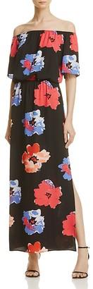 AQUA Floral Cold-Shoulder Maxi Dress - 100% Exclusive $88 thestylecure.com