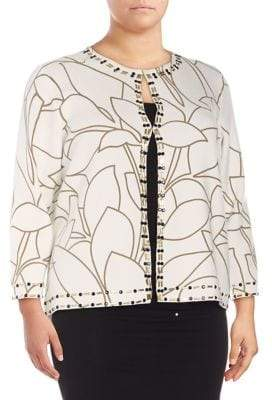 Nipon Boutique Plus Embellished Cardigan