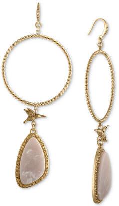 Rachel Roy Gold-Tone Blush Chandelier Earrings