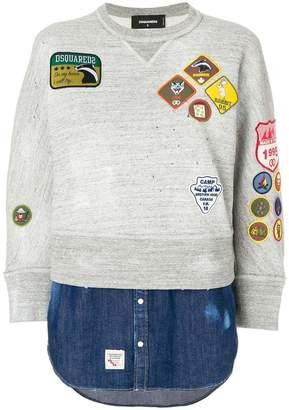 DSQUARED2 patch sweatshirt