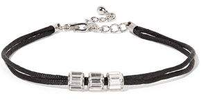 Kenneth Jay Lane Cord Silver-Tone And Crystal Choker
