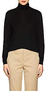 The Row Women's Donnie Silk Turtleneck Sweater-Black