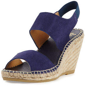 Andre Assous Brenda Suede Espadrille Wedge Sandal