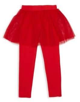 Flapdoodles Little Girl's Mesh Skirt & Legging Combo