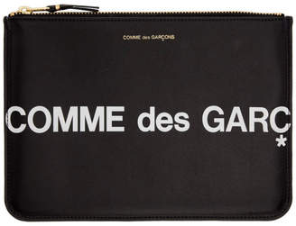 Comme des Garcons (コム デ ギャルソン) - Comme Des Garcons Wallets Comme des Garcons Wallets ブラック ラージ Huge ロゴ ポーチ