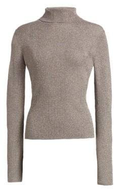 3.1 Phillip Lim Lurex Ribbed Turtleneck Sweater