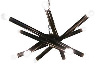 Noir Lex 12-Light Chandelier - Bronze
