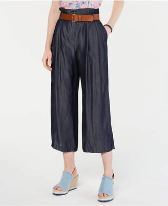 Tommy Hilfiger High-Waist Belted Pants