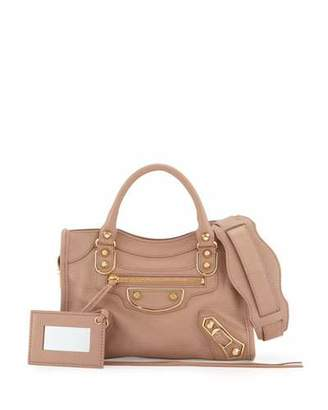 Balenciaga Edge City Mini Leather Satchel Bag, Rose $1,545 thestylecure.com