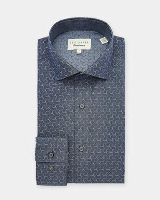 Ted Baker DUSKS Geo jacquard cotton shirt