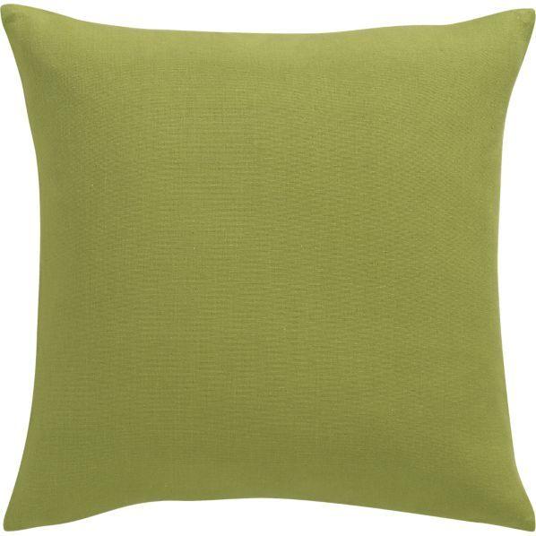 "Crate & Barrel Brinkley Chartreuse 18"" Pillow"