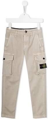 Stone Island Junior straight leg cargo trousers