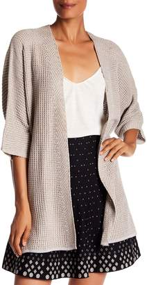 Max Studio Bell Sleeve Waffle Knit Cardigan Sweater