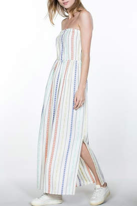 En Creme Striped Cotton Maxi