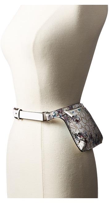 Calvin KleinCalvin Klein - 20mm Smooth Leather Strap Logo Floral Belt Bag Women's Belts