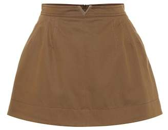 Valentino Stretch cotton twill miniskirt
