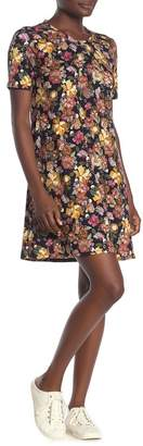 PREMISE STUDIO Floral Print Jersey Shift Dress
