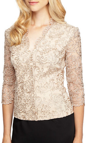 Alex Evenings Alex Evenings Plus Scalloped Embroidered Top