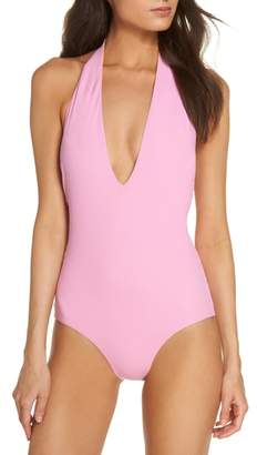 Tory Burch Biarritz Reversible One-Piece Swimsuit