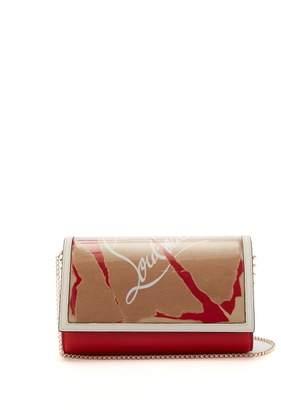 Christian Louboutin - Paloma Kraft Loubi Leather And Pvc Clutch - Womens - Brown Multi