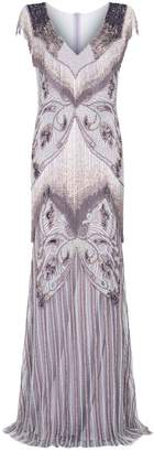 Patbo Patricia Bonaldi Embellished Ombre Fringe Gown