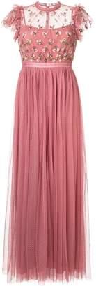 Needle & Thread flower appliqué dress