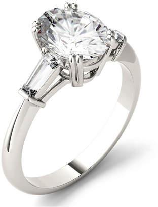 Charles & Colvard Moissanite Oval Engagement Ring (2-1/2 ct. tw.) in 14k White Gold